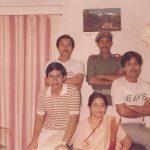 Maj Abhijit Kumar Das with his family
