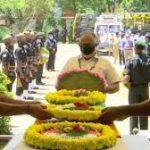 Tribute being paid to Naik Aneesh Thomas
