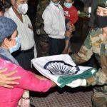 Hav Deepak Karki's family receiving his belongings