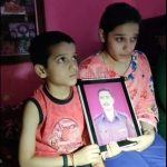 Sub Sukhdev Singh's son Tanmay and daughter Tanvi