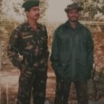 Nk Rajendra Singh with his comrade