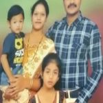 Hav Praveen Kumar with his wife and kids