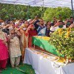 Family members paying tribute to Lance Naik Saleem Khan