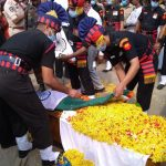 Army personnel performing last rites of Spr Reddy