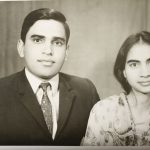 Maj Ranvir Singh Shekhawat with his wife