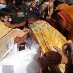 family members paying tribute to Hav Bhadouria Kuldip