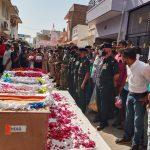 People paying tributes to Hav Bhadouria Kuldip