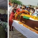 Family members pay last respects to Lance Naik Raj Singh