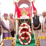 Memorial in the honour of Maj Ranvir Singh Shekhawat