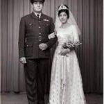 Wedding Photograph of Flt Lt Moses Sasoon and Sybia Robert Jacob