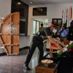 Tributes being paid at NDA hut of remembrance in the honour of Sqn Ldr Abhinav Chaudhary