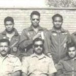 Flt Lt R G Kadam(back row wearing shades)