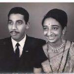 Flt Lt Vijay Vasant Tambay with his wife