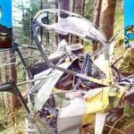 The remains of the ill-fated Helicopter of Maj Rohit Kumar