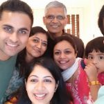 Major Akshay Girish Kumar with his Family