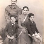 2nd Lt Arun Khetarpal during his childhood days ...with parents and younger brother Mukesh