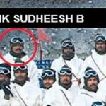 Lance Naik Sudheesh with his team