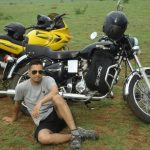 Captain Tushar Mahajan with his bike