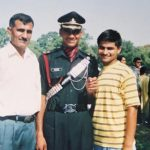 A young Lt Amit Deswal with his father and brother during his graduation ceremony at IMA