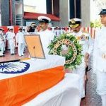 A wreath laying ceremony at Naval Hospital in honour of Lt Cdr Kapish