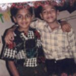 Fg Offr Suraj Pillai childhood photo