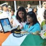 Navy personnel and family members pay their last respects to Cdr Suresh Maurya