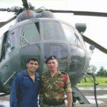 Flt LT Akash Yadav with his father Satbir singh Yadav