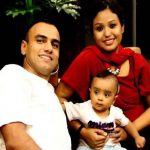 Maj Amit Deswal with his wife & child