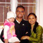 Maj Amit Deswal with his wife Neeta & son Arjun