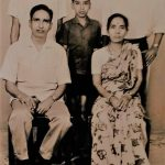 Sep Anil Kumar Kadam with Parents and Brothers - Bharat and Rajendra during his younger days