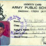 Major udai's Army Public School I-Card