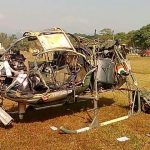 The ill fated helicopter of Maj Arvind Bazala