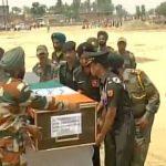 Naib Subedar Paramjit Singh's mortal remains reach Taran Taaran