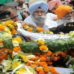 Army personnel paying their last respects to late Naib Subedar Paramjit Singh at his village Vain Poin, near Amritsar