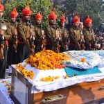 Army soldiers paying last tributes to Sepoy Sachin Sharma