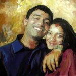 Flt Lt Serrao and his wife