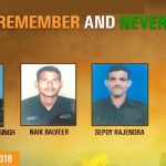 Brave soldiers, Hav Kamlesh Singh , Naik Balveer and Sep Rajendra