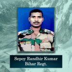 Sepoy Randhir Kumar