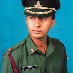 Capt. Mandeep Singh as a young officer