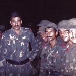 Captain Atul Sharma during his training days