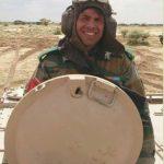 Major Dhruv Yadav in his tank