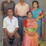 Captain Jerry Prem Raj with his Family