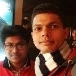 Captain Kapil Kundu with his friend