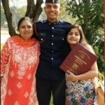 Captain Kapil Kundu with his mother & sister