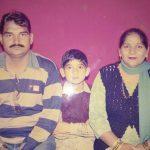 Captain Pawan Kumar with his parents