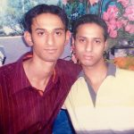 Captain Mahajan with his friend in younger days