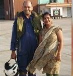 Cdr Suresh Maurya with his wife, Archana