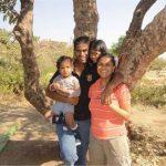 Col Santosh Mahadik with his family