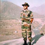 Colonel Vasanth Venugopal on a border post