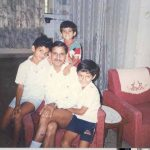 Capt Sunil kumar Choudhary with his father and brothers in his younger days
